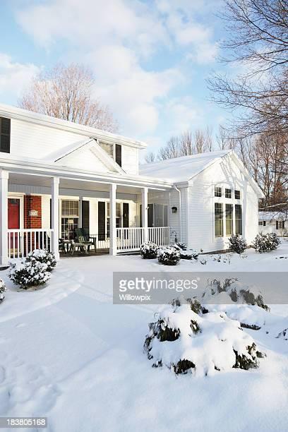 House Schnee Home Winter Dawn Morgen – vertikal