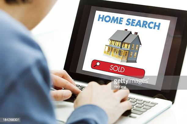House, Sold Real Estate, Viewed Using Internet Computer Home Search