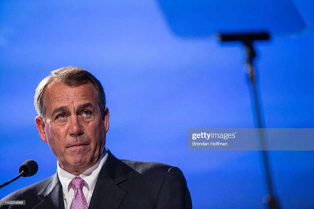 House Speaker John Boehner (R-OH) speaks at the 2012 Fiscal Summit on May 15, 2012 in Washington, DC. The third annual summit, held by the Peter G. Peterson Foundation, explored the theme 'America's Case for Action.'