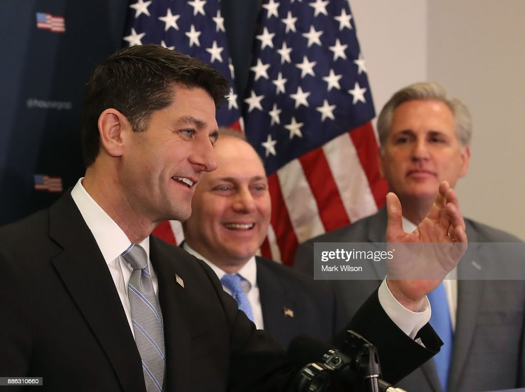 House Republican Leaders Address Press After Conference Meeting