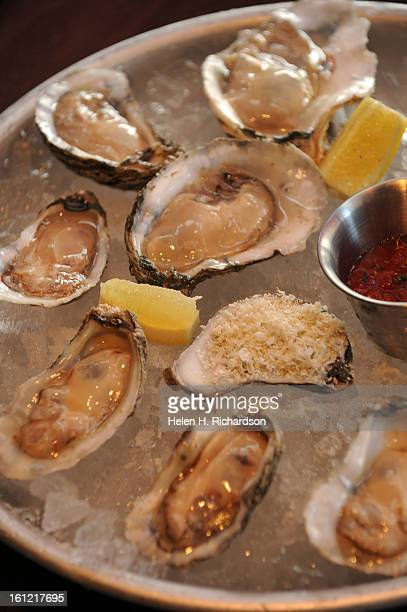 A house speciality are the oysters on the half shell served chilled For any order of 12 or more oysters diners can get 10% off a bottle of any...