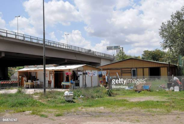A house stands at the Tor di Quinto Roma or gypsy camp in Rome Italy on Friday July 18 2008 There is evidence of intolerance toward the EU's...