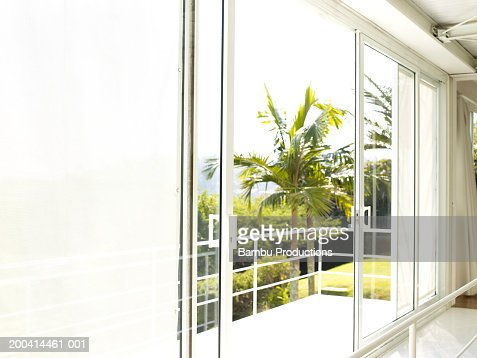 House terrace overlooking outside : Stock Photo