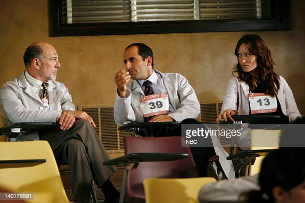 House 'The Right Stuff' Episode 2 Pictured Carmen Argenziano as Henry Dobson Peter Jacobson as Dr Chris Taub Olivia Wilde as Thirteen