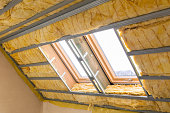 House thermal insulation with mineral wool