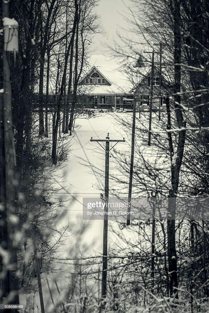 House Through The Woods : Foto de stock