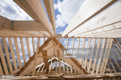 House under construction  : Stock-Foto