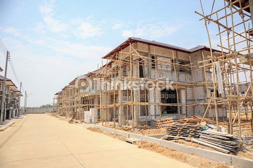 House Under Construction With Autoclaved Aerated Concrete