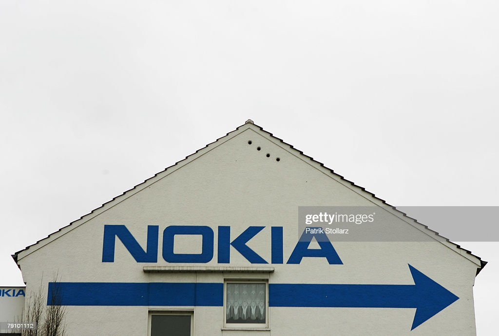 A house wall is seen, painted with the logo of Finland's mobile phone manufacturer Nokia on January 18, 2008 in Bochum, Germany. A confederation of German unions warned that the decision by Nokia to close its plant in Bochum threatened the region's economic future.