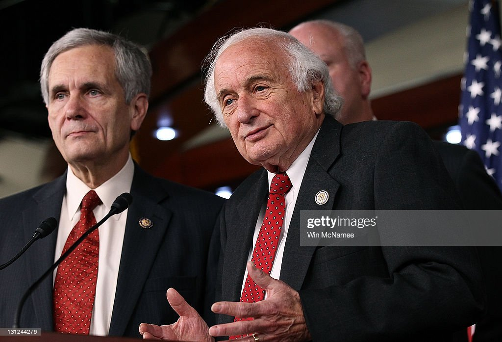 House Ways and Means Committee Democrats (L-R) Rep. Lloyd Doggett (D-TX) and Rep. Sander Levin (D-MI) hold a press conference on unemployment insurance at the U.S. Capitol November 3, 2011 in Washington, DC. Democrats will be introducing an unemployment insurance extension bill soon to curtail the possibility of unemployment benefits expiring in 2012.