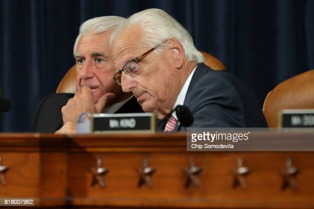 House Ways and Means Committee's Trade Subcommittee Chairman Dave Reichert and ranking member Rep Bill Pascrell attend a hearing about NAFTA reform...