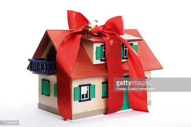 House with bow, close-up