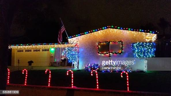 Christmas Lighting Pictures Getty Images American Flag Lights
