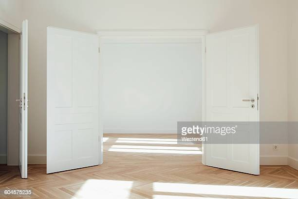House with empty rooms and open doors