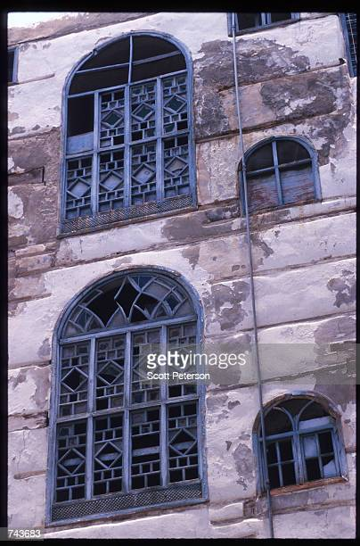 A house with latticework on the windows designed to hide the women inside stands July 15 1996 in Jeddah Saudi Arabia Possessing twentyfive percent of...