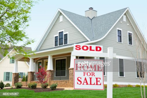 Real Estate Sign Stock Photos And Pictures | Getty Images