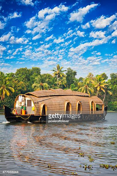Houseboat on the Kerala Backwaters in India