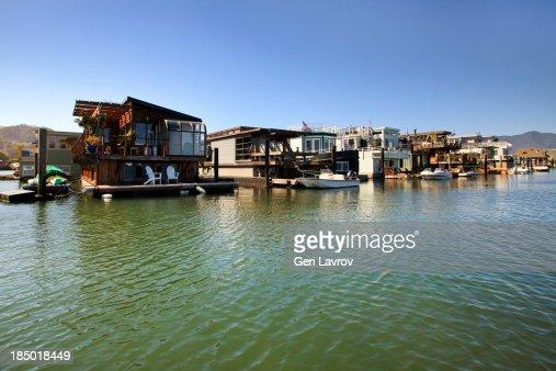 Houseboats in Sausalito, California