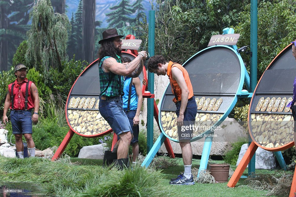 Houseguest Austin awards houseguest Steve as the winner of the first Power of Veto competition, 'Nosa Scotia', on BIG BROTHER, Wednesday, July 1 (8:00 --9:00 PM, ET/PT) on the CBS Television Network.