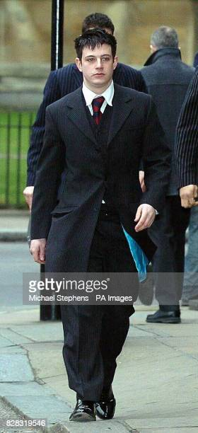 Household Cavalry soldier Mark Goddard arrives at London's Middlesex Guildhall Crown Court Thursday February 2 2006 Trooper Goddard was arrested...