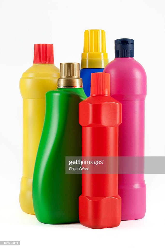 Household Cleaning Supply Bottles : Stock Photo