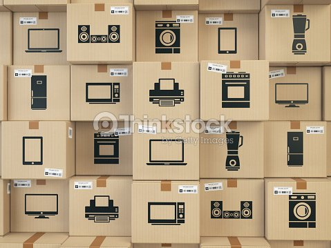Household Kitchen Appliances And Home Electronics In Boxes Ecommerce ...