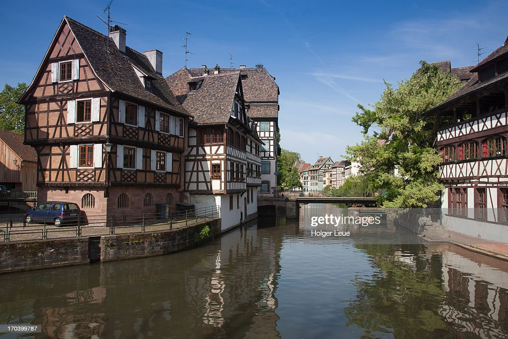Houses and canal in La Petite France district