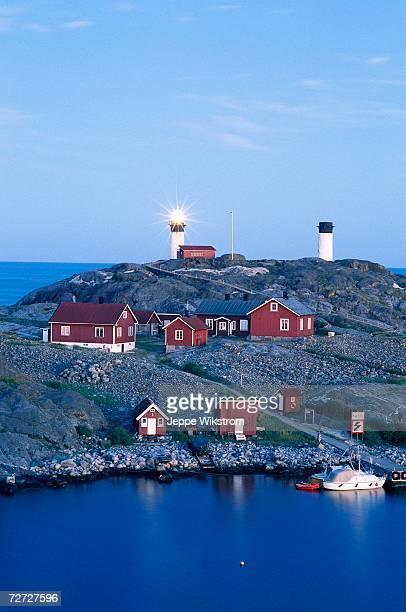 Houses and lighthouses on Ursholmen.