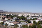Houses are pictured on June 15 2012 in Henderson Nevada President Barack Obama traveled to Southern Nevada to promote his Neighborhood Stabilization...