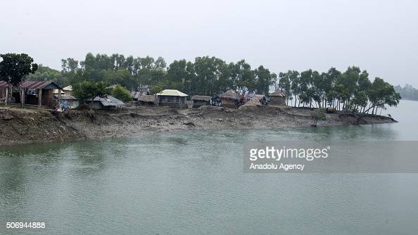 Houses are seen after the rise of sealevel as Department of Environment's study conducted between April 2013 and Oct 2015 which analyzed tidal water...