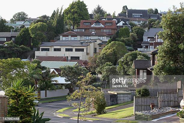 Houses are seen as they become more popular within the real estate market on April 16 2012 in Auckland New Zealand Housing sales have increased 25...