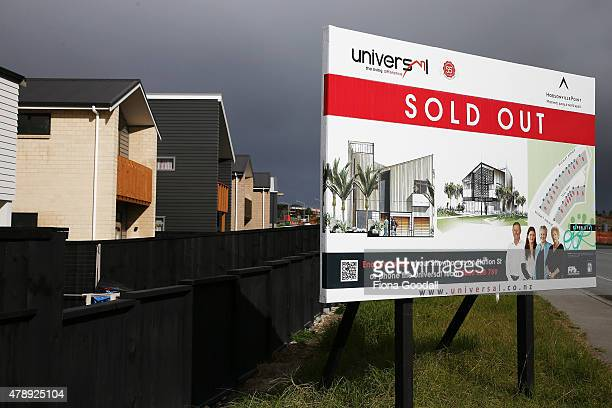 Houses are selling at Hobsonville Point on June 29 2015 in Auckland New Zealand The development of 1000 new homes at Hobsonville Point has begun The...