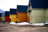 Houses are taken in Longyearbyen on June 8 2010 AFP PHOTO/ MARTIN BUREAU