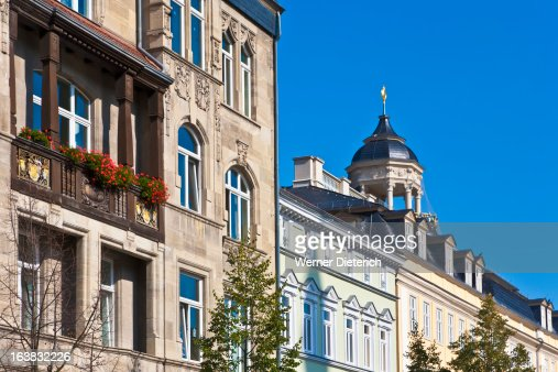 Houses at the market place in Eisenach, Thuringia : Stock Photo