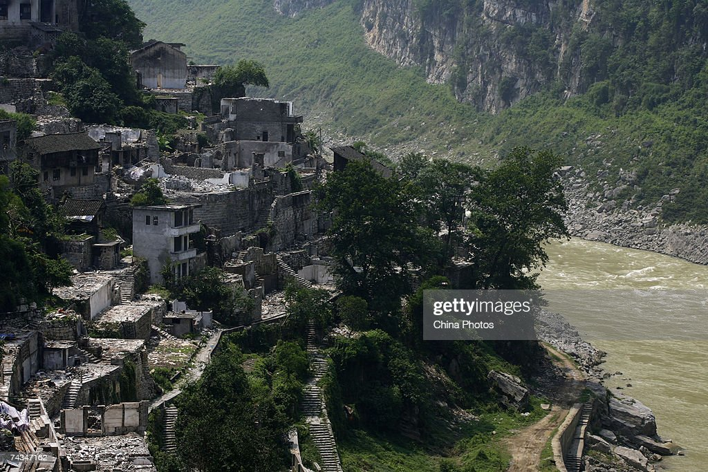 Houses being demolished along ancient streets are seen in Gongtan Township May 27 2007 on the outskirts of Youyang County of Chongqing Municipality...