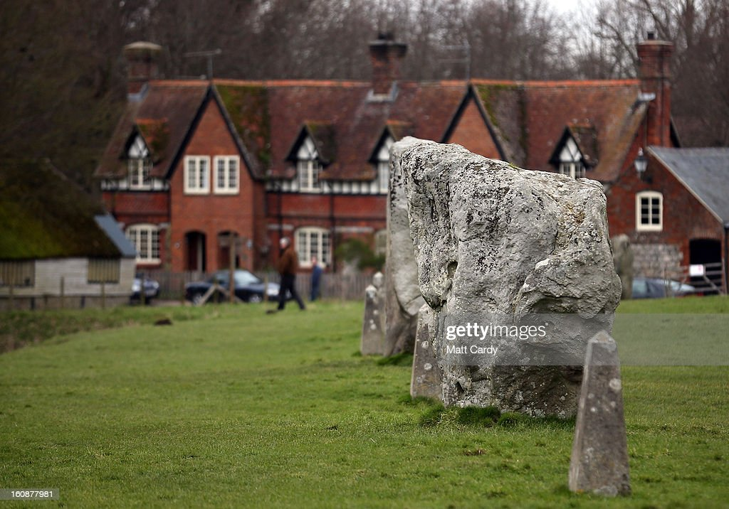Houses built after the Neolithic stones were placed at Avebury are seen on February 7, 2013 in Wiltshire, England. A leading travel magazine has recently named the collection of stones - thought to have been constructed around 2600BC and the largest stone circle in Europe, as the second best heritage site in the world. The Wiltshire world heritage site has been placed ahead of much more recognisable sites including the Valley of the Kings in Egypt, Taj Mahal in India and the Forbidden City in China.
