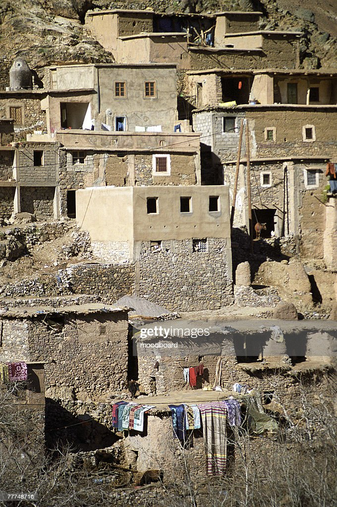 Houses in a Desert Town : Stock Photo