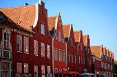 'Houses in a row, Dutch Quarter, Potsdam, Brandenburg, Germany'