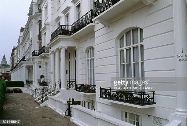 Houses in Kensington district London England United Kingdom