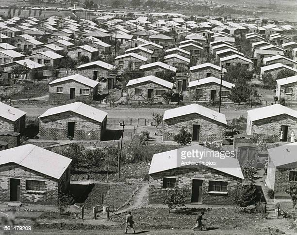 Houses in Orlando a township in Soweto Johannesburg South Africa during the era of apartheid circa 1960