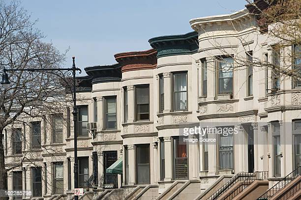 Houses in park slope in brooklyn