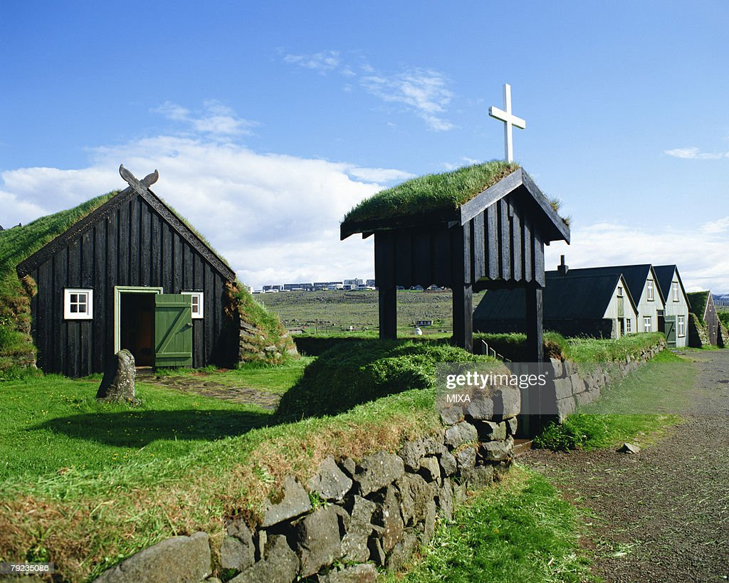 Houses in Reykjavik, Iceland : Stock Photo