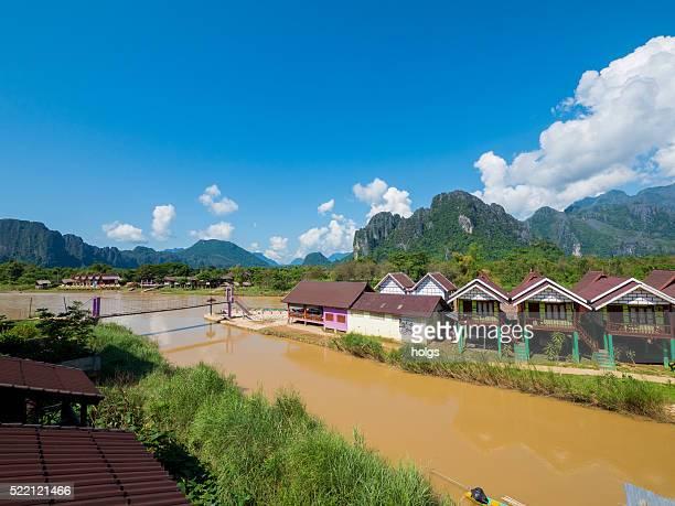 Houses in Vang Vieng, Laos