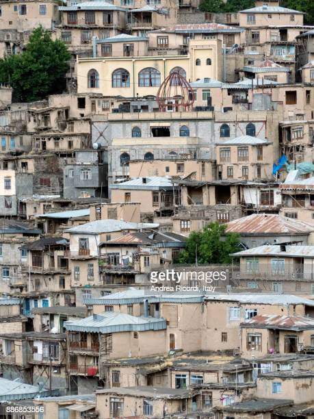 Houses of Kang, an historic stepped village, Iran