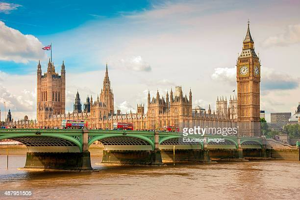 Houses Of Parliament Big Ben And Westminster Bridge City Of London England Uk