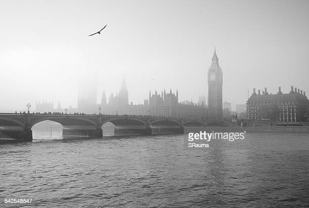Houses of Parliament in fog