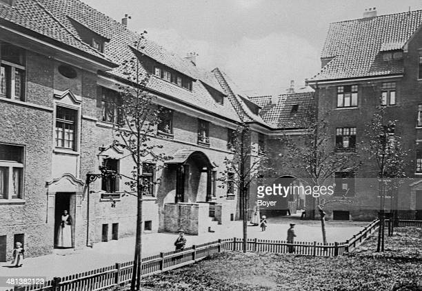 Houses of workers from the Krupp factories Essen circa 1920