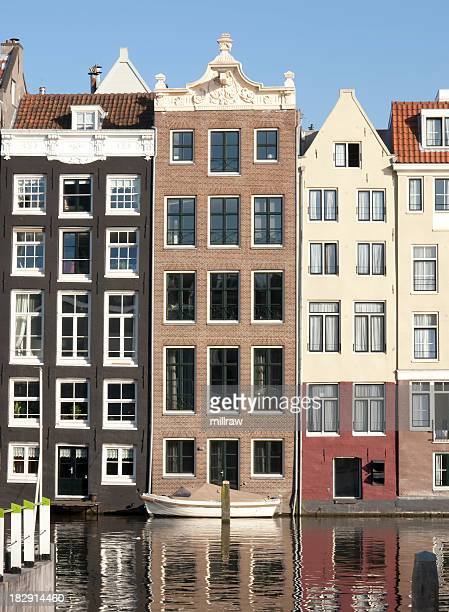 Houses on Canal in Amsterdam Netherlands (Holland)