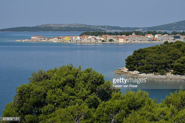 Houses on Krapanj Island, Adriatic, Sibenik-Knin County, Croatia
