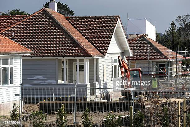 Houses under construction at Hobsonville Point on June 29 2015 in Auckland New Zealand The development of 1000 new homes at Hobsonville Point has...